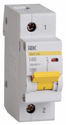IEK (ИЭК) IEK Автоматический выключатель ВА47-100 1Р 80А 10кА х-ка D