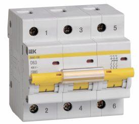 IEK (ИЭК) IEK Автоматический выключатель ВА47-100 3Р 63А 10кА х-ка D