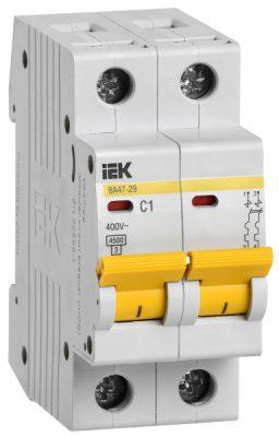 IEK (ИЭК) IEK Автоматический выключатель ВА47-29 2Р 1А 4,5кА х-ка С