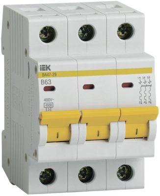 IEK (ИЭК) IEK Автоматический выключатель ВА47-29 3Р 63А 4,5кА х-ка В